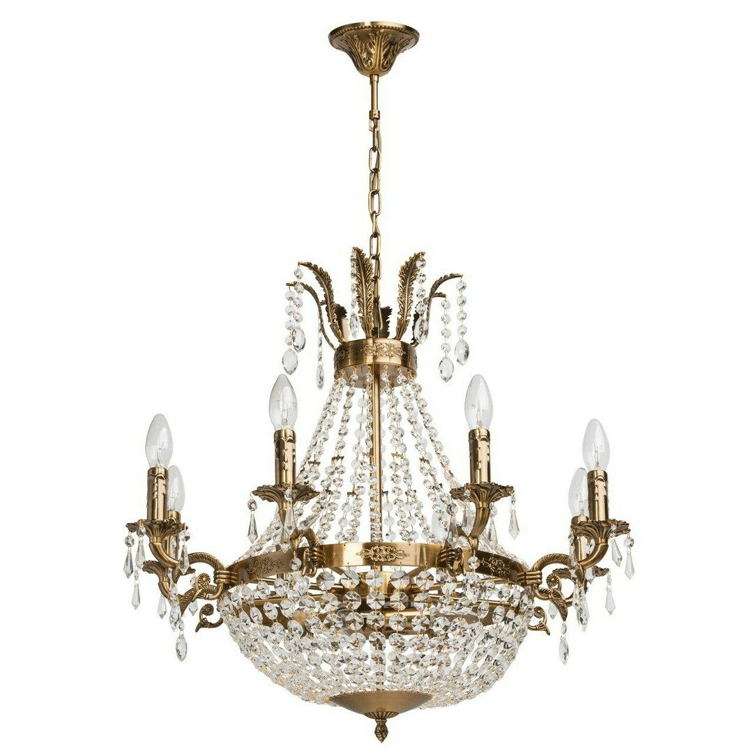 Isabella Crystal 11 Chandelier Brass - 351016511