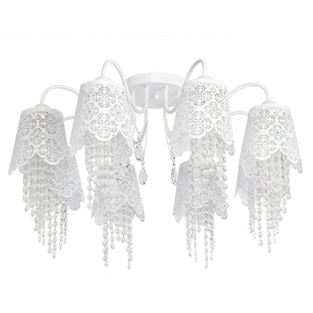 Hanging lamp Pauline Elegance 8 White - 472010508