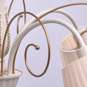 Hanging lamp Vitalina Elegance 5 Beige - 448010605 small 5