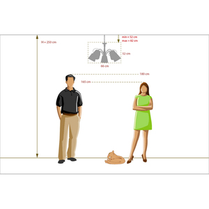 Hanging lamp Vitalina Elegance 5 Beige - 448010605 small 12