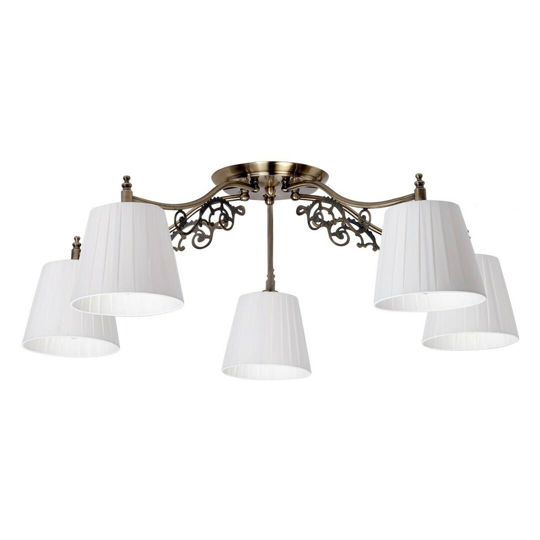 Hanging lamp Monica Classic 5 Brass - 372011105