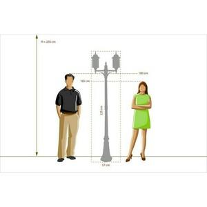 Garden lamp Burgos Street 2 Black - 813040602 small 1