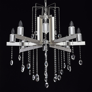 Ramona Crystal 8 Chandelier Chrome - 613010108 small 1