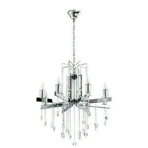 Ramona Crystal 8 Chandelier Chrome - 613010108 small 0