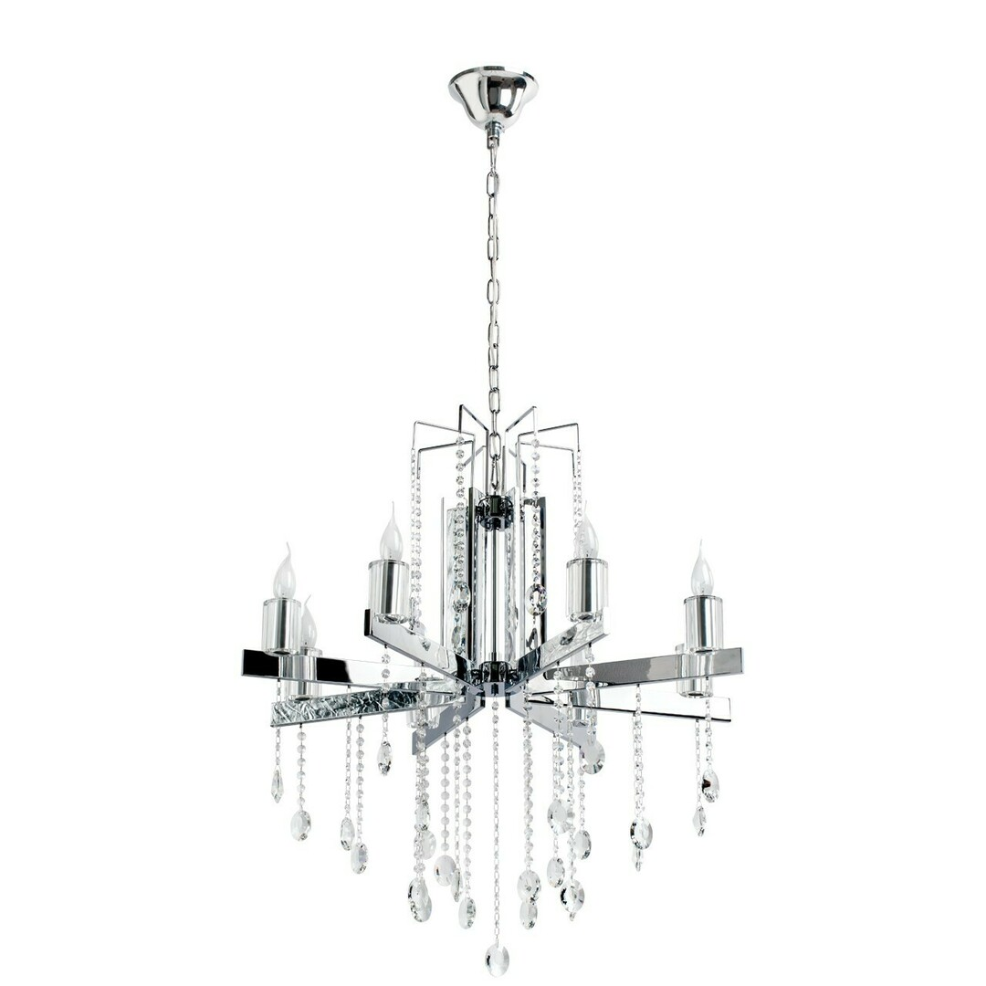Ramona Crystal 8 Chandelier Chrome - 613010108