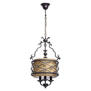 Hanging lamp Magdalena Country 3 Brown - 382 016 103 small 0
