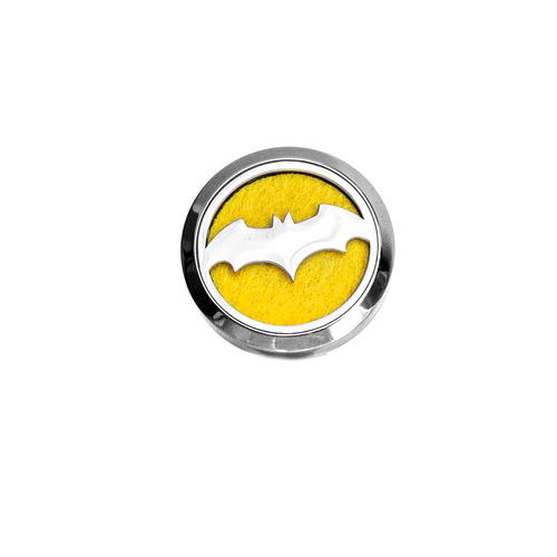 Decorative car air freshener, diffuser of essential oils - Batman, stainless steel