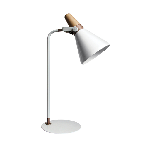 H1833 Desk Lamp White / White