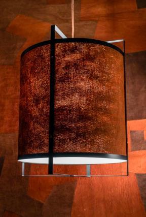Unique pendant lamp Tatu bark Kyambalo