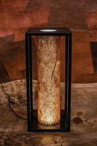 Bed / table lamp Jioni, bark Kyambalo