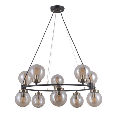Black Hanging Lamp Galvez E14 10-bulb