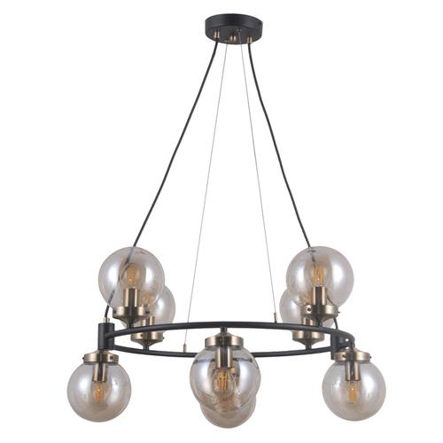 Black Hanging Lamp Galvez E14, 8-bulb