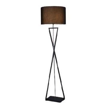 Abigali Sand Glass floor lamp black