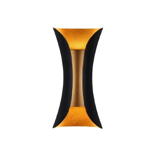 Wall lamp Abigali Black-Gold IP65 2x5W 3000K