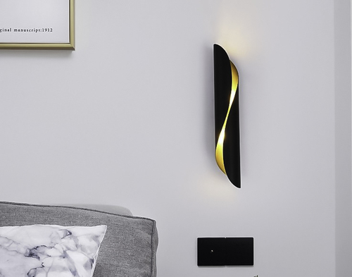 Wall lamp Abigali Drill Black and Gold