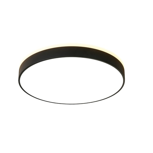 Round black Abigali 600 * 65mm 60W 3000K LED ceiling lamp