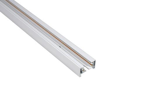 Blaupunkt 1-phase STORM rail, 1 m long, with end caps, white color