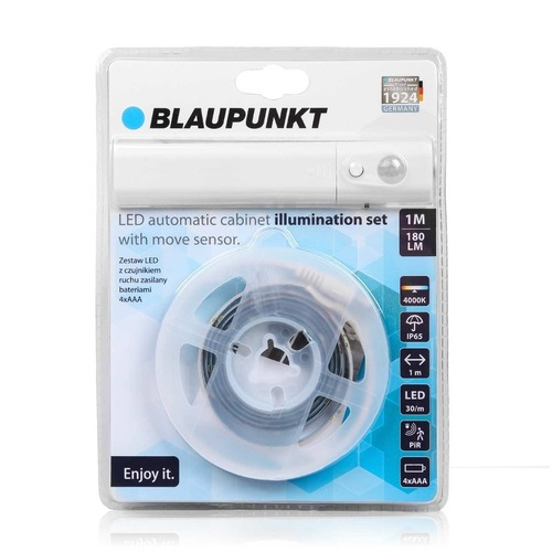 Blaupunkt LED strip with a motion sensor powered by 4xAAA batteries Cabinet Light Set natural color