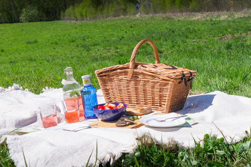Wicker picnic basket - handmade
