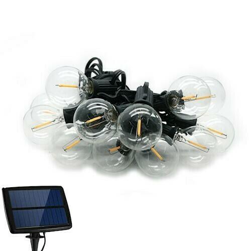 Solar garden garland 5,5m IP44 + 10 bulbs 0.5W