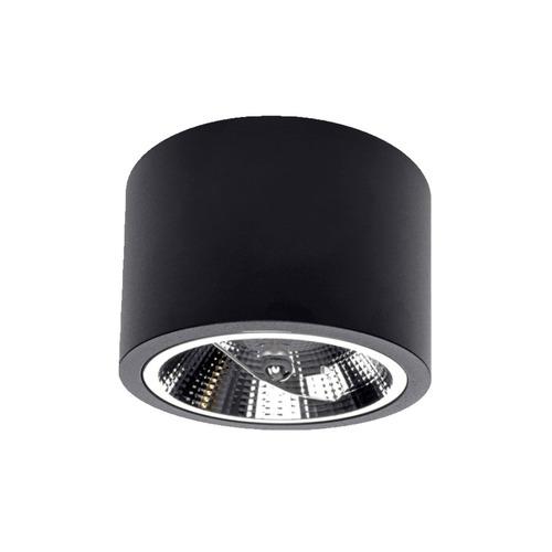 Camino black surface mounted luminaire