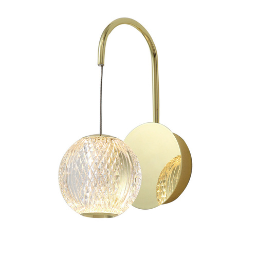 Gold Classic Rosario LED wall lamp