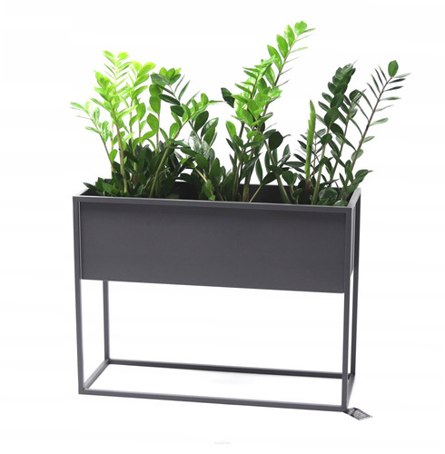 Metal flower stand CUBO 60x80x30cm gray loft box