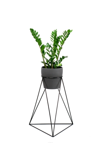 Industrial metal stand for one pot 60cm black