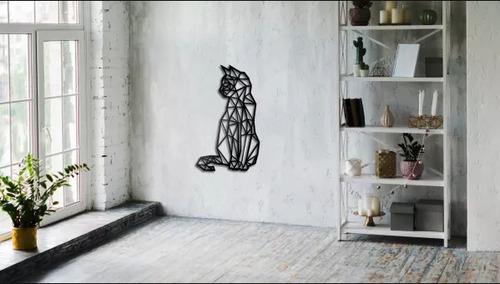 Geometric cat wall decoration