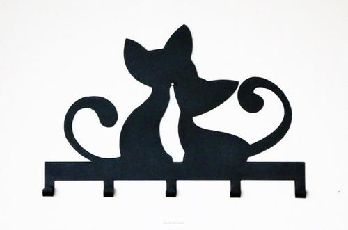 Metal Wall Hanger CATS black color