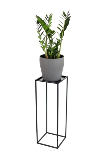 Flowerbed LOFT metal stand for one pot 70cm black