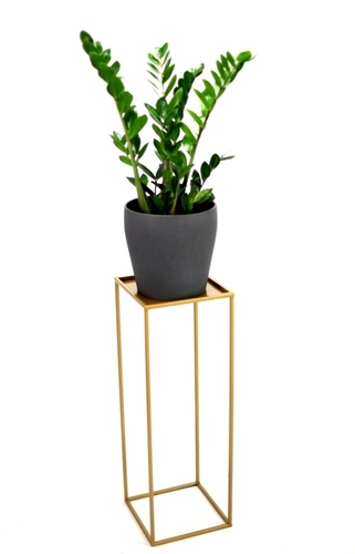 Flowerbed LOFT metal stand for one pot 100cm gold