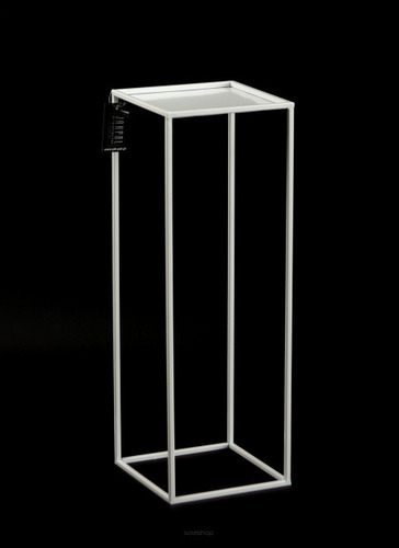 Flowerbed LOFT metal stand for one pot 70cm white