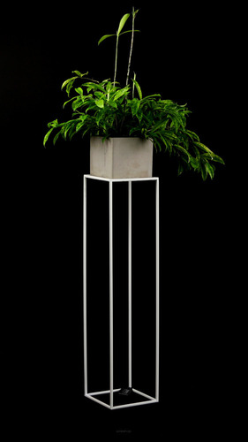 Flowerbed LOFT metal stand for one pot 100cm white