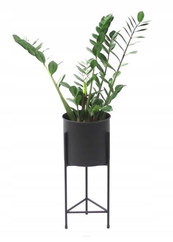 Metal flower stand LOFT with FIORI pot 50cm black