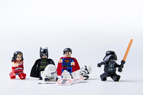 Wall mural lego, wonder woman, batman, superman, star wars, kids, toys