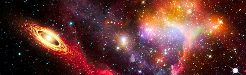 Wall mural 3D, cosmos, Star Wars, stars, milky way, asteroids