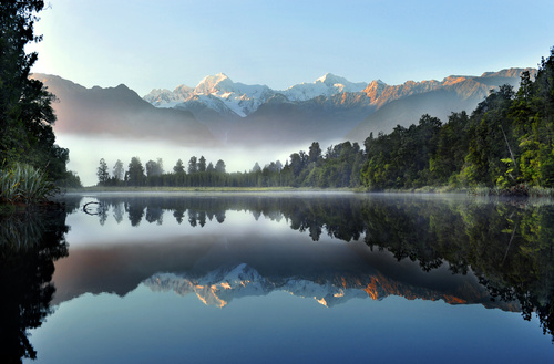 Wall Mural New Zealand, lake, landscape, water, trees, nature, mountains