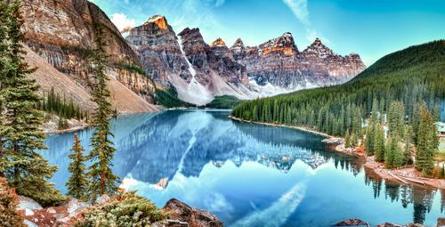 Wall mural Canada, lake, Alberta, landscape, nature