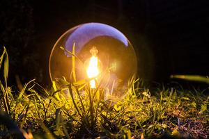 Garden ball lamp Luna ball 25 cm, modern, transparent small 3