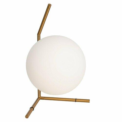 Floor lamp SOLARIS white brass 39 cm