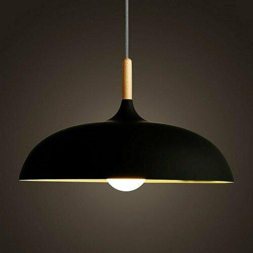Pendant lamp SAUCER 45 cm black