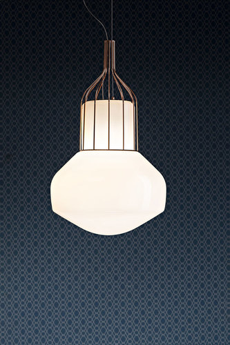 Hanging lamp Fabbian Aérostat 33 cm - copper - F27 A11 41