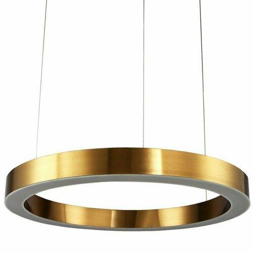 Hanging lamp CIRCLE 100 LED brass 100 cm