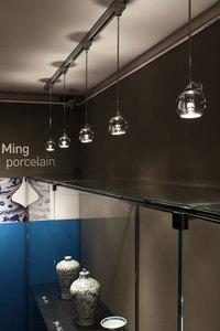 Hanging lamp FABBIAN Beluga Blue D57A1131 small 2