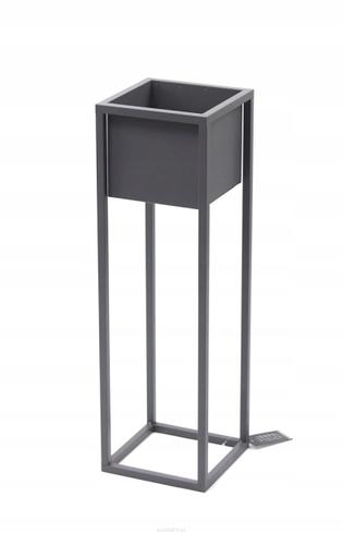 Loft flower stand metal plant stand CUBO 70cm gray loft box