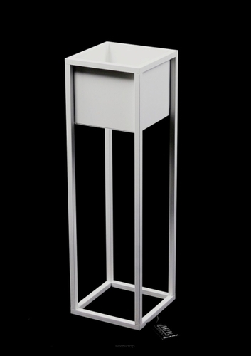Loft flower stand metal plant stand CUBO 70cm white loft box