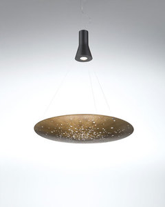 Hanging lamp Fabbian LENS F46A0176 Bronze small 0