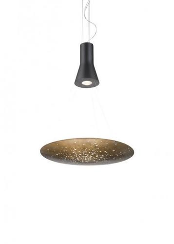 Lampa wisząca Fabbian Lens F46 24W 60cm - Brązowy - F46 A01 76