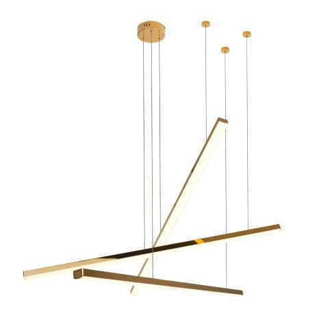 Trio 3 P0426D pendant lamp gold dimmable Max Light
